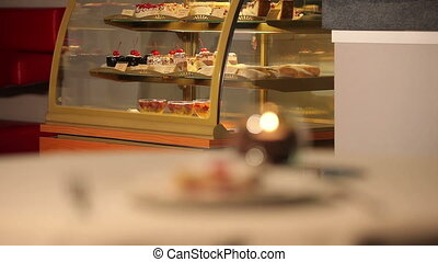 Cakes and capuccino - Cakes . Muffins. Dessert and capuccino