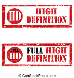 High Definition-stamps - Set of grunge rubber stamps with...