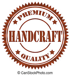 Handcraft-stamp - Rubber stamp with text Handcraft-Premium...