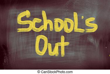 Schools Out Concept