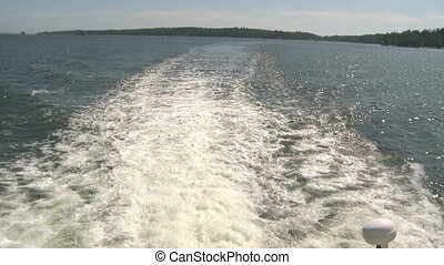 Water Wake - Water wake of small passenger Boat