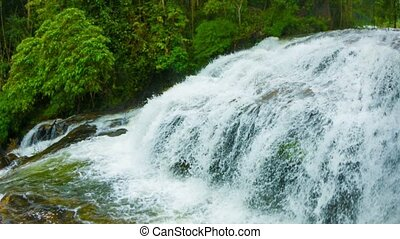Waterfall in the jungle of Thailand
