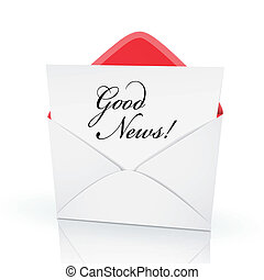 the words good news on a card
