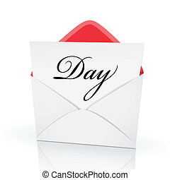 the word day on a card in an envelope