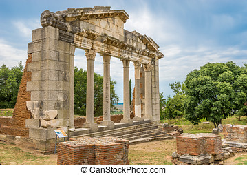 Temple ruins in Apollonia. - Temple ruins in Apollonia -...