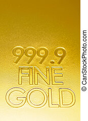 Fine gold closeup