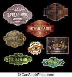 vintage labels - set of vintage labels, vector illustration...