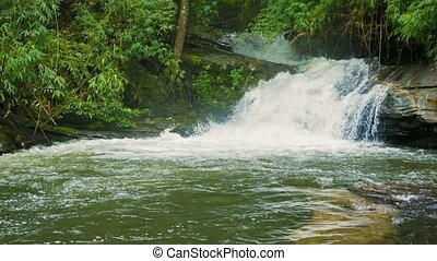 Small river with waterfall in the forest Chiang Mai,...