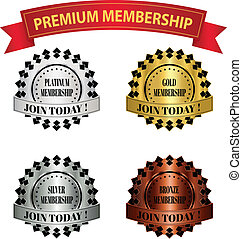 Premium Membership Badges - premium membership badges that...