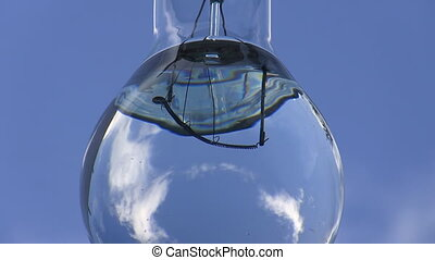 Lamp bulb earth water energy