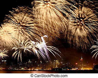 The 4th of July fireworks in NYC - The 4th of July fireworks...