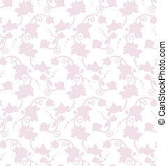 Vector floral rose silhouette seamless pattern, ready to use