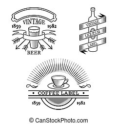 Vector vintage labels - Vector vintage label set