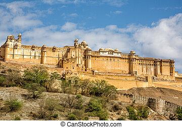 Amber Fort - Famous Rajasthan landmark - Amer (Amber) fort,...