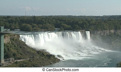 Niagara Falls - The great Niagara Falls viewed from the...