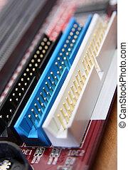 Closeup of computer parts