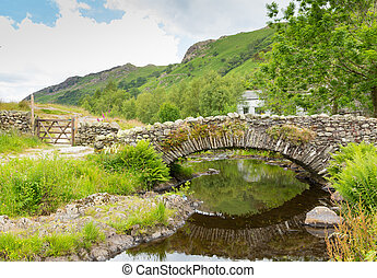 Packhorse bridge Watendlath Tarn uk - Watendlath Tarn Lake...