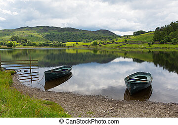 Boats Watendlath Tarn The lakes - Watendlath Tarn Lake...