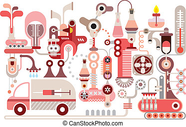 Research Lab - Modern Research Lab - isolated vector...