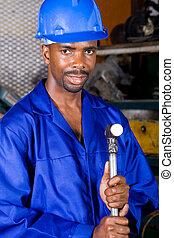 man using blowtorch