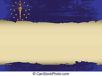 indiana scratched flag - An indianan flag with a large frame...