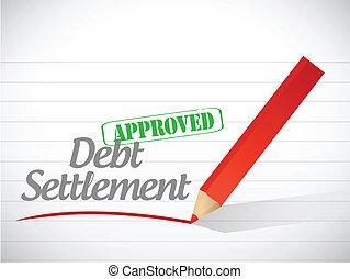 approved debt settlement message illustration