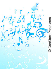 music Abstract background - illustration of blue retro style...