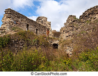 The ancient destroyed fortress Petersburg Russia Koporye