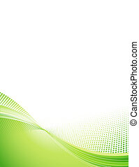 abstract background - Illustration of green abstract techno...