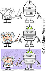 Professor Shows His Pointer A Robot - Scientist Or Professor...