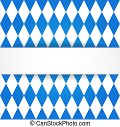 Oktoberfest background Bavarian flag pattern