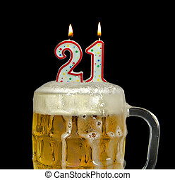 birthday candles in beer - Birthday candles for 21st...
