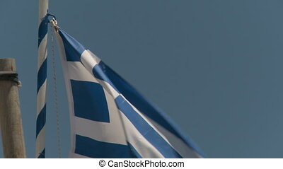 National Flag of Greece waving in the wind