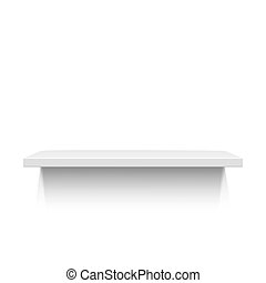 White realistic shelf isolated on white background Vector...