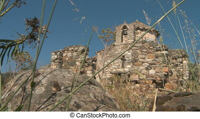 Ruins in Naxos - Historic scenery with ruins in Naxos,...