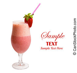 Strawberry Smoothie - Delicious Strawberry Smoothie isolated...