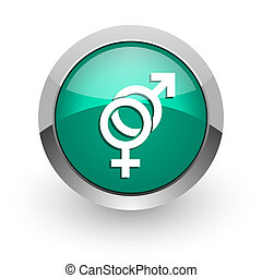 sex green glossy web icon