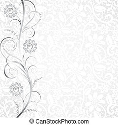 Jewelry and lace - Jewelry border on white lace background...