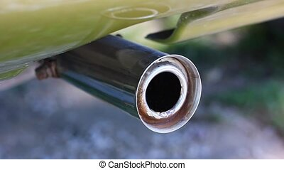Smoking exhaust pipe