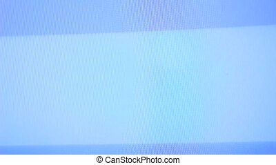 TV screen with no signal and white