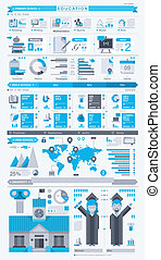 education info graphic, vector set - Vector info graphic...