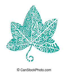 Tribal tattoo Ivy leaf Tribal motif is good for native theme...