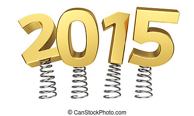 2015 on springs - Golden digits 2015 jumping on springs