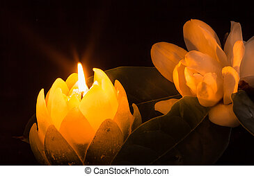 Magnolia By Candlelight - Candle in the shape of a Magnolia...