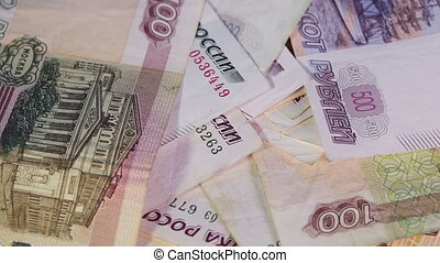 Russians moneys - Russian paper rubles in various...