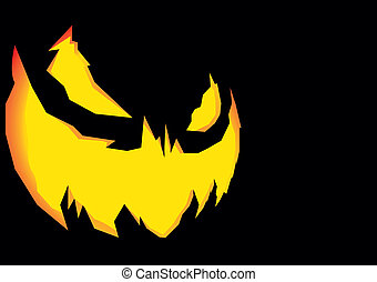 Jack-o-Lantern - detailed illustration of a scary halloween...
