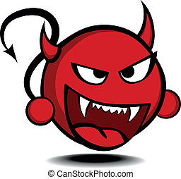 devil - detailed illustration of a stylized red devil, eps10...
