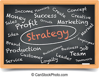 "Blackboard Strategy - detailed illustration of a ""Strategy""..."