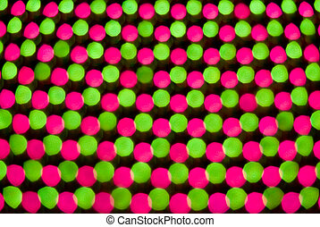 abstract 62 - green red abstract rounds