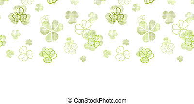 clover textile textured line art horizontal seamless pattern background